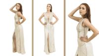 Vestido de Gala Bordado á Mão -