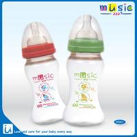 Wide neck feeding bottle -