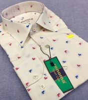 Dotted slimfit men's shirts -