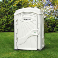 White Deluxe Portable Restrooms -