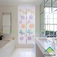 White Butterfly Sunflower Magnetic Door Screen/varied prints and styles -