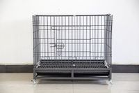 fondo negro y el patrón de la astilla, el tubo semi cuadrado, con claraboya para mascotas jaula-LJ-920-B plegable -