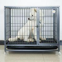 jaula del animal doméstico, tubo cuadrado, fondo negro, patrón de la astilla -