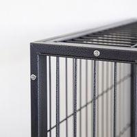 jaula del animal doméstico, fondo negro, patrón-LJ-1100-cuadrado astilla tubo -