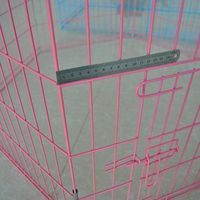 6 pieza jaula del animal doméstico valla -