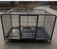 jaula del animal doméstico con tubo cuadrado de arco -
