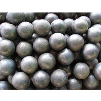 Low chrome cast grinding ball -