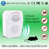 ABS plastic Electronic pest repeller Stereo wave rat control -
