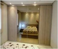 Sliding Mirrored Doors And Colored Manufactured Tailored. -